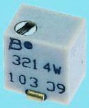 Фото 1/2 3214W-1-101E, Res Cermet Trimmer 100 Ohm 10% 0.25W(1/4W) 5(Elec)Turns 1.5mm (4.8 X 3.9 X 5.3mm) J-Hook SMD T/R