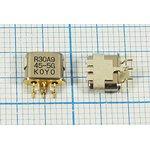 Фильтр кварцевый 45МГц 2-го порядка с полосой 30кГц, 1-ая гармоника ...