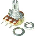 16K1-B50K, L15KC, 50 кОм, Резистор переменный с центральной фиксацией