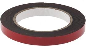 89083, Лента клейкая на вспененной основе усиленная, двусторонняя, черная, 12 мм х 5 м