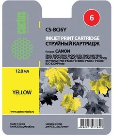 Картридж CACTUS CS-BCI6Y желтый