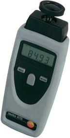Фото 1/2 testo 470, Комплект для измерения скорости вращения (об/мин), тахометр (Госреестр РФ)