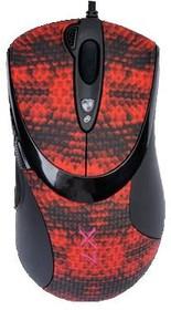 Мышь A4 V-Track F7 лазерная проводная USB, черный и красный