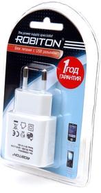 Фото 1/2 USB1000 white, Блок питания с USB разъёмом белый, 5В,1А,5Вт (адаптер)