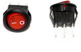 Фото 1/2 SMRS-102-2C3-R, Переключатель ON-ON (3A 250VAC) SPDT 3P, красная клавиша