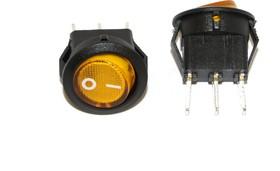 Фото 1/2 SMRS-102-2C3-Y, Переключатель ON-ON (3A 250VAC) SPDT 3P, желтая клавиша