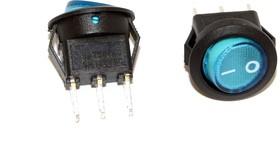 SMRS-102-2C3-BL, Переключатель ON-ON (3A 250VAC) SPDT 3P, синяя клавиша