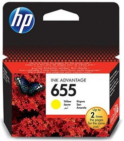 Картридж HP 655 CZ112AE, желтый