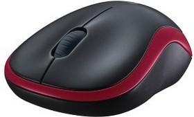 Мышь LOGITECH M185 оптическая беспроводная USB, красный [910-002240]