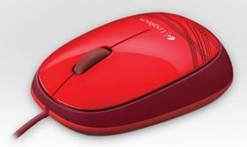 910-003118, Мышь LOGITECH M105, оптическая проводная, USB, retail, красный [910-003118], Мышь компьютерная