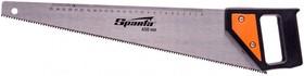 Фото 1/4 232335, Ножовка по дереву, 450 мм, 5-6 TPI, каленый зуб, линейка, пластиковая рукоятка