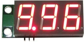 SVH0001UR-10, Цифровой встраиваемый вольтметр 0..9,99В, ультра яркий красный индикатор