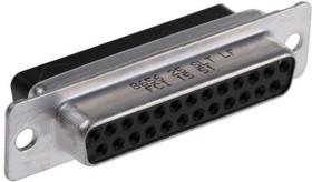 865625SLTLF, D-Sub PL 25 POS 2.76mm Crimp ST Panel Mount
