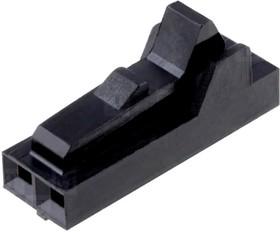 Фото 1/5 104257-1, Корпус разъема розетка на кабель 2-контактная шаг 2.54 (без контактов)