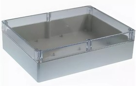 Фото 1/2 G2029C, Корпус для РЭА 300х230х86 мм, пластик, с прозрачной крышкой
