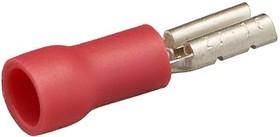 Фото 1/2 RF110-8SG (57644) (TAI3-1.25F), Клемма ножевая 3мм, розетка, изолированная, провод 0.75-1.25 (красная)