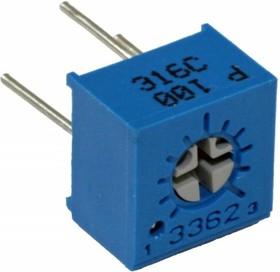 Фото 1/6 3362P-1-102LF (СП3-19а), 1 кОм, Резистор подстроечный