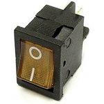 MIRS-201A-2C3 (желтый), Переключатель с подсветкой ON-OFF (10A 125VAC ...