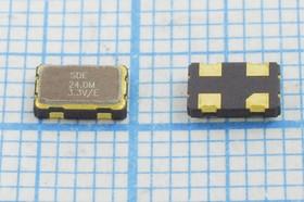 Кварцевый генератор 24МГц 3.3В, HCMOS/TTL в корпусе SMD 5x3.2мм, гк 24000 \\SMD05032C4\T/ CM\3,3В\SOC5\SDE