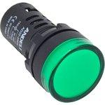 Лампа AD16-22DS LED матрица d22мм зеленый 220В AC ADL10-138