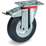 Колесо Tellure Rota 535421 поворотное тормозом, диаметр 80мм ...