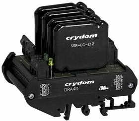 Фото 1/2 DRA4D250D6, Контактор реверсивных двигателей 5-15VDC/6A на DIN-рейку