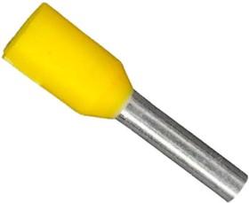 Фото 1/3 CE010008 (LT10008) (DN01008), Наконечник 1.0 мм2 желтый