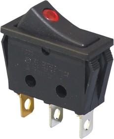 IRS-1E-2C, Переключатель красный с подсветкой ON-OFF 250B/10A