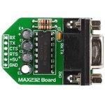 MIKROE-222, MAX232 Board, Периферийный модуль для подключения через интерфейс RS232