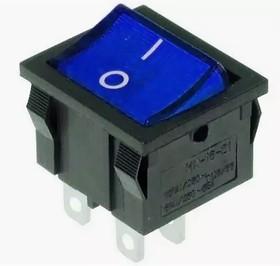MIRS-201A-4C3 (синий), Переключатель с подсветкой ON-OFF (10A 125VAC, 6A 250VAC, 15A 12VDC) DPST 4P (OBSOLETE)