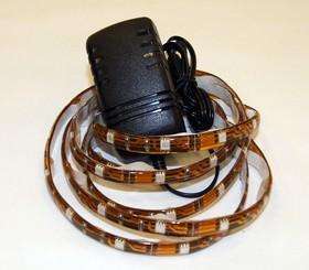 1х1LG60W5050WW, Набор светодиодной ленты 60SMD(5050)/m, теплый белый, 1м, с блоком питания