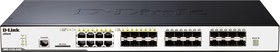 DGS-3120-24SC/B1AEI, 24-Port Managed L2+ Gigabit Switch, physical stacking