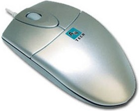 Мышь A4 OP-720 оптическая проводная PS/2, серебристый [op-720 silver]