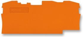 2006-1392, Connector Accessories End Plate Orange Box