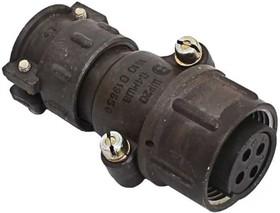 Фото 1/2 ШР20П4НШ8 розетка, Разъем на кабель с прямым патрубком для неэкранированного кабеля