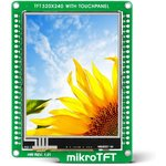 MIKROE-1439, mikroTFT, Модуль с сенсорным TFT дисплеем 320х240