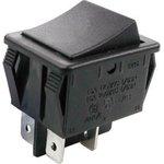 R525-BBOT (KLS7-009-22- C-0-BK/BK-P20-S (2)), Выключатель 2хON-ON 250В 16А черн ...