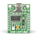 MIKROE-1203, USB UART click, Плата преобразователя интерфейса USB UART на базе ...