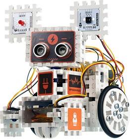 Фото 1/6 Робоняша, Конструктор для сборки мобильного робота на основе Iskra JS