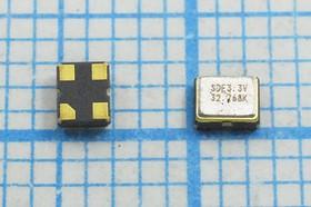 Кварцевый генератор часовой 32.768кГц 3.3В, HCMOS в корпусе SMD 2.5x2мм, гк 32,768 \\SMD02520C4\CM\ 3,3В\SOC2\SDE