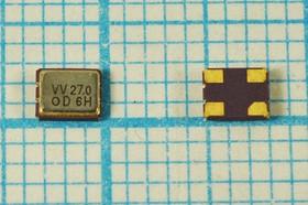 Управляемый напряжением (VCXO) кварцевый генератор 27МГц с перестройкой ПЧ:+/-90ppm, гк 27000 \VCXO\SMD03225C4\ CM\3,3В\DSV321SV\