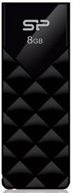 Флешка USB SILICON POWER Ultima U03 8Гб, USB2.0, черный [sp008gbuf2u03v1k]