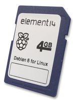 Raspberry Pi - 4GB SD Card, Карта памяти SD 4Gb с предустановленным Debian 6 Linux