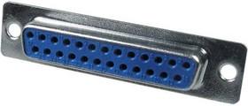 Фото 1/2 DB-25F (DS1033-25F), Гнездо 25 pin на кабель (пайка)