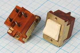 Фото 1/4 Клавишный выключатель 2-х полюсный, белого цвета 220В/0.5А, c фиксацией, 152 ПКл\ 4C\0,5А/4\ON- OFF\\бел\ПТ-30 В