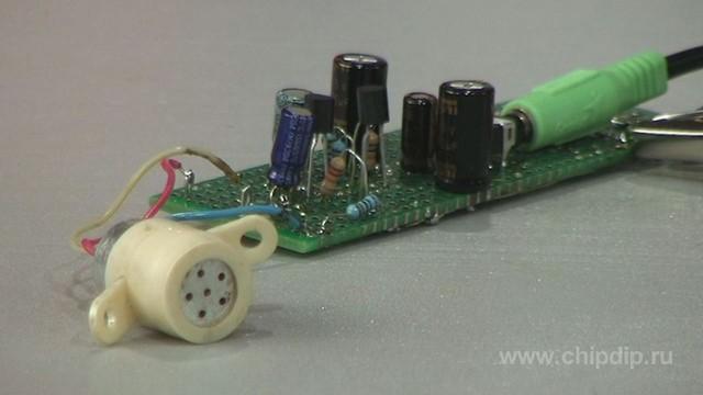 Усилитель для электретного