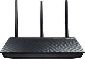 RT-AC66U, Wireless dual-band router 802.11ac 1300Mbps 2.4 and 5GHz 256Mb with 4 Gigabit port LAN 1 Gigabit WAN