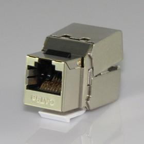 HYC-K1813, Розетка Keystone 8P8C (RJ-45) CAT.5e, экранированная (PUNCH DOWN)
