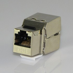 HYC-K1833, Розетка Keystone 8P8C (RJ-45) 10G, экранированная (PUNCH DOWN)