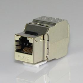 HYC-K18F13, Розетка Keystone 8P8C (RJ-45) CAT.5e, экранированная (TOOL FREE)
